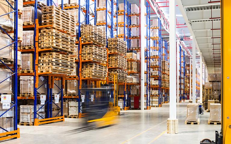 warehouse bulk truck