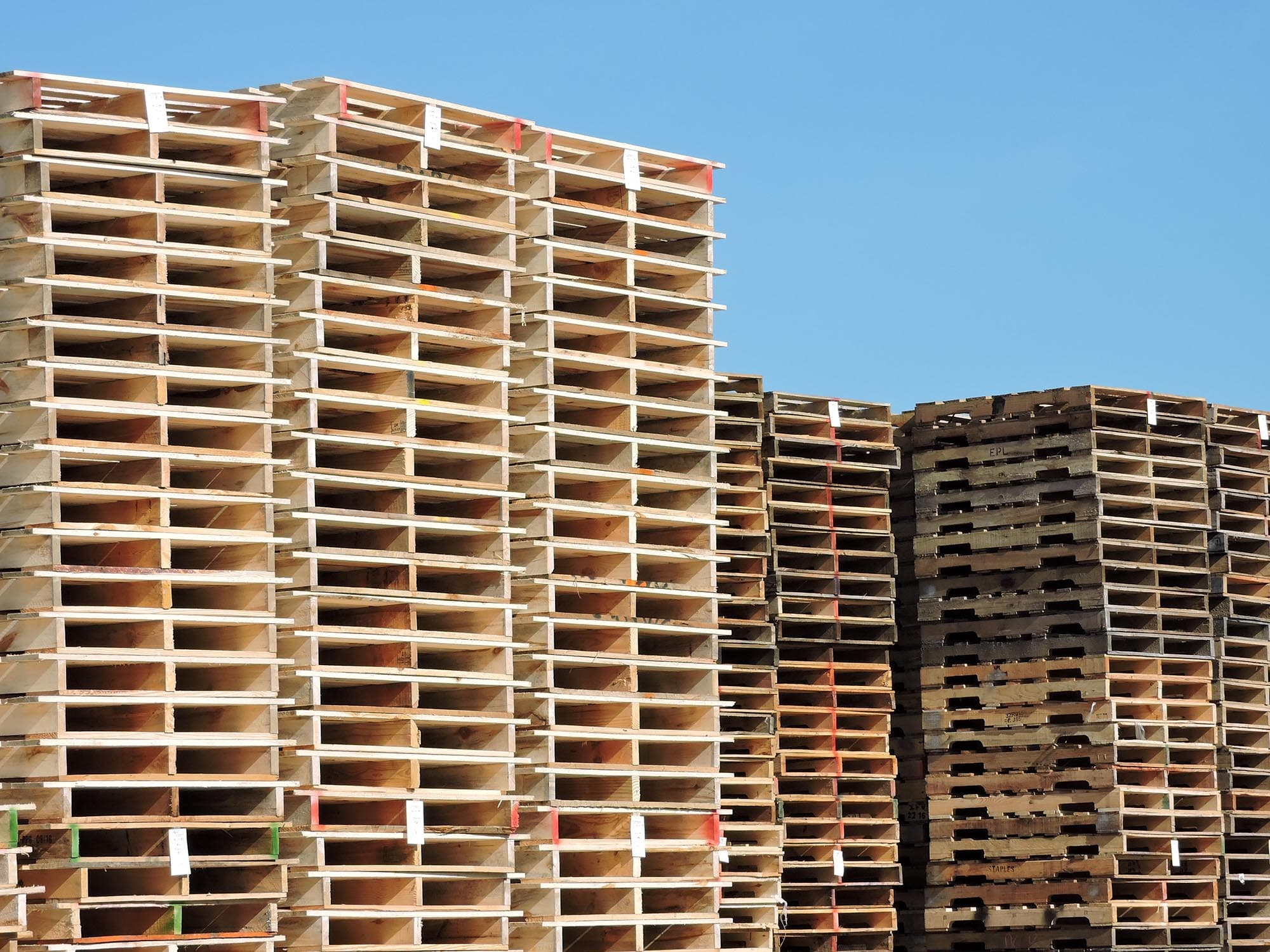 48x40 Wooden Pallets stacked